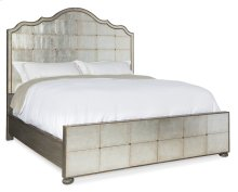 Bedroom Arabella California King Mirrored Panel Bed