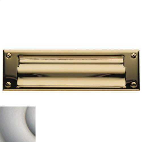 Satin Nickel Letter Box Plates