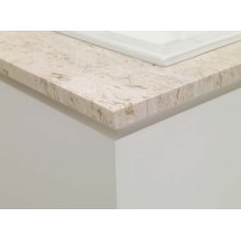 """WideAppeal™ 31"""" x 22"""" Marble Vanity Top in Cream Beige - 2"""" Thick"""