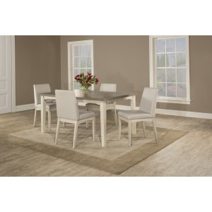 Hillsdale FurnitureClarion 5-piece Rectangle Dining Set With Upholstered Chairs - Sea White