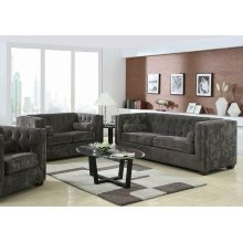 Alexis Charcoal Two-piece Living Room Set