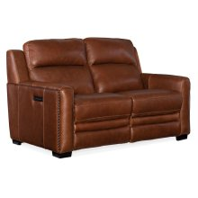 Living Room Lincoln Power Recline Loveseat w/Power Headrest&Lumbar Rec