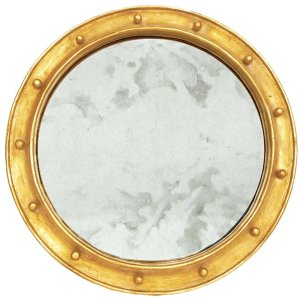 Worlds Away Gold Leaf Federal Style Frame With Antique Mirror.