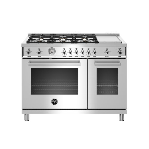 48 inch All-Gas Range 6 Brass Burner and Griddle Stainless Steel
