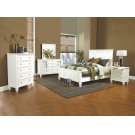 Sandy Beach White Queen Bed Product Image