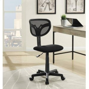 CoasterBlack Mesh Office Chair