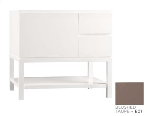 "Chloe 36"" Bathroom Vanity Base Cabinet in Blush Taupe - Large Drawer on Left Product Image"