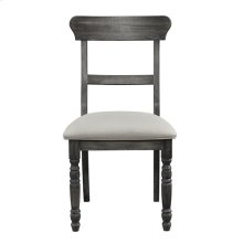 Ladderback Chair (2 per carton) - Weathered Pepper Finish
