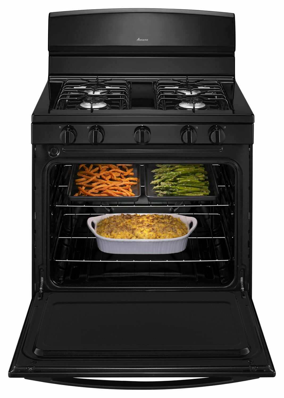 30-inch Gas Range with EasyAccess Broiler Door - Black Photo #2