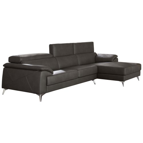 Tindell Sectional Gray Right