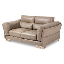Monica Leather Loveseat