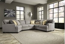 Cresson - Pewter Armless Loveseat, Right Loveseat, Left Cuddler, Wedge