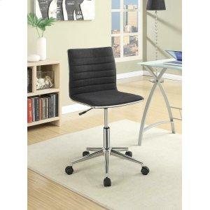 CoasterModern Black and Chrome Home Office Chair