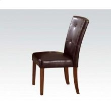Br Cherry Side Chair W/esp Pu