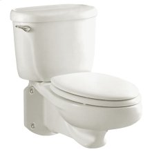 Glenwall Pressure Assisted Wall-Mounted Toilet - White
