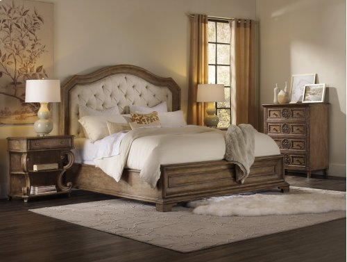 Bedroom Solana California King Upholstered Panel Bed