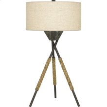 Pembroke Table Lamp in Tarnished Bronze