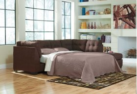 Maier LAF Sectional Sleeper Sofa w/RAF Chaise - Walnut Collection