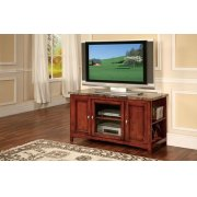 CHERRY TV STAND W/FAUX MARBLE Product Image