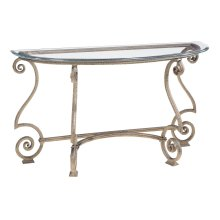 Solano Console Table Glass Top and Base