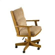 Classic Oak Tilt Swivel Arm Chair