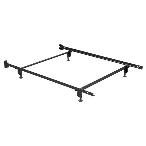 Inst-A-Matic Premium PC753G Bed Frame with Headboard Brackets and (4) 2-Piece Glide Legs, Powder Coat Finish, Full