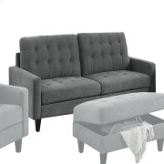 GRAY FABRIC OTTOMAN Product Image