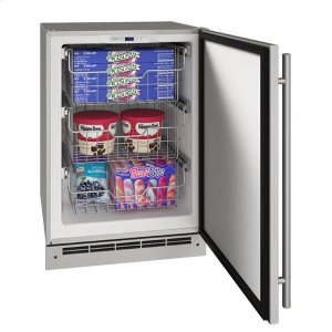 "U-Line24"" Convertible Freezer With Stainless Solid Finish (115 V/60 Hz Volts /60 Hz Hz)"