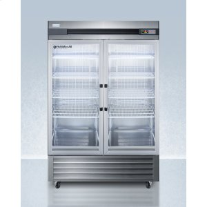 SummitPerformance Series Pharma-lab 49 CU.FT. All-refrigerator In Stainless Steel With Glass Doors