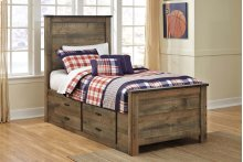 Trinell - Brown 4 Piece Bed Set (Twin)