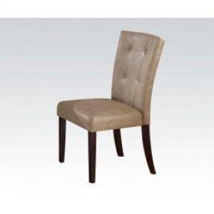 Walnut Side Chair W/cream Pu