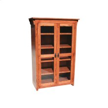 "Mission Oak 24"" Full Door Bookcase"