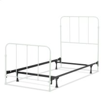 Nolan Complete Kids Bed with Metal Duo Panels, Artic White Finish, Twin