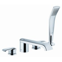 Roman Tub Faucet With Handshower in Polished Chrome