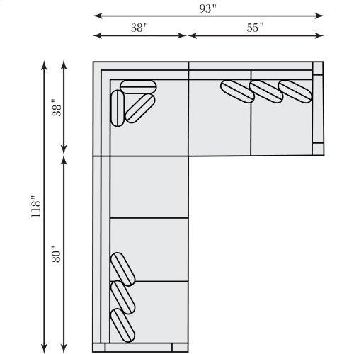 Franco Sectional (3-Piece) in Mocha (751)