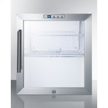 Commercially Approved Built-in Capable Glass Door Refrigerator With Digital Thermostat and Stainless Steel Wrapped Cabinet