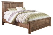 Blaneville - Brown 4 Piece Bed Set (Queen)