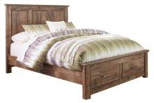 Blaneville - Brown 4 Piece Bed Set (Queen)