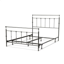 Winslow Complete Bed with Metal Panels and Aluminum Castings, Mahogany Gold Finish, Queen