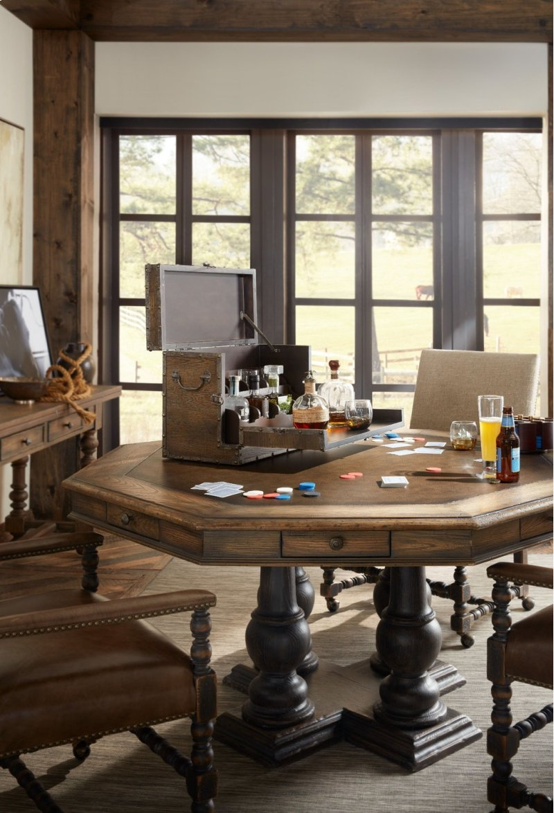 Hidden Additional Dining Room Castle Hills 60in Game Table