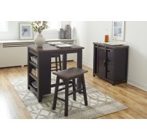 """Madison County 32"""" Barn Door Accent Cabinet - Vintage Black Product Image"""
