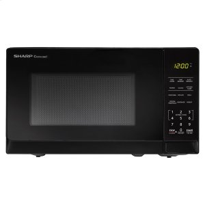 0.7 cu. ft. 700W Sharp Black Carousel Countertop Microwave Oven -