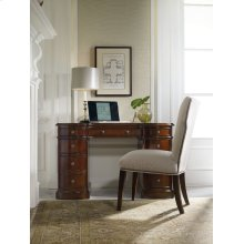 Home Office Cherry Knee-Hole Desk-Bow Front