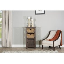 Tuscan Retreat® Basket Stand With X Door With Two Baskets - Mocha