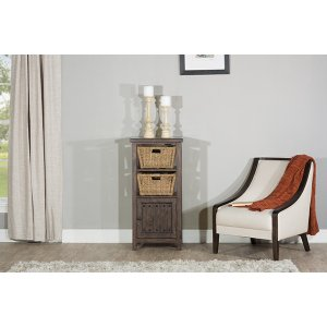 Hillsdale FurnitureTuscan Retreat(r) Basket Stand With X Door With Two Baskets - Mocha