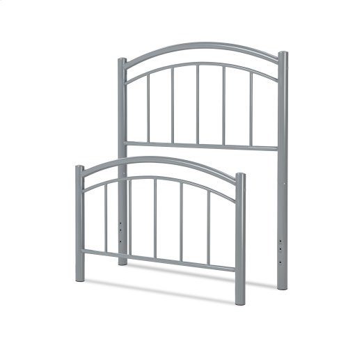 Rylan Kids Bed with Metal Duo Panels, Shadow Grey Finish, Twin