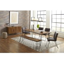 "Nature's Edge 79"" Dining Table With 4 Wyatt Chairs"