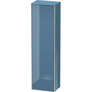 Tall Cabinet, Stone Blue High Gloss Lacquer