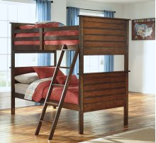 Ladiville - Rustic Brown 3 Piece Bed Set (Twin)