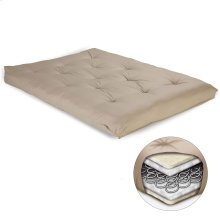 8-Inch Futon Mattress with Multi-Layer Innerspring Core, Khaki